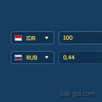 Конвертер валют индонезийской рупии